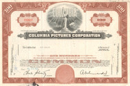 Columbia Pictures Corporation stock certificate 1962