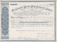Cunard Steam Ship Company Limited stock certificate 1945