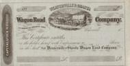 Weaverville and Shasta Wagon Road Company stock certificate circa 1857  (California)