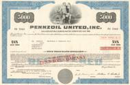 Pennzoil United Inc $5000 bond 1970's (oil, gas, racing)