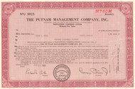 The Putnam Management Company stock certificate 1960's