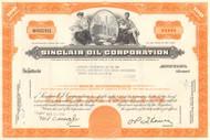 Sinclair Oil Corporation stock certificate 1960's - orange