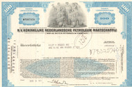 Royal Dutch Petroleum Company stock certificate 1970's