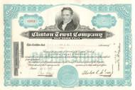 Clinton Trust Company  stock certificate 1950's