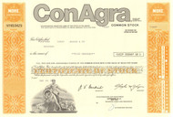 ConAgra Inc stock certificate 1980's  - orange