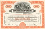 NOPCO Chemical Company stock certificate 1950's - orange