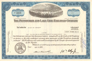 Pittsburgh and Lake Erie Railroad stock certificate 1970's