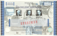 Daimler Chrysler AG stock certificate specimen  (Benz, Dodge, Chrysler cars)