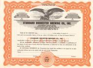 Standard Rochester Brewing Company stock certificate circa 1956