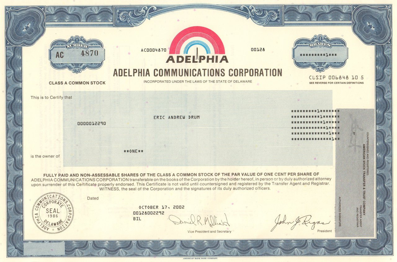 adelphia communications For the transition period from to commission file number: 0-16014 adelphia communications corporation.