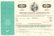 Georgia-Pacific Corporation bond certificate 1970's - aqua