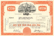 UOP Inc. stock certificate 1975 (oil and refinery services)