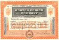Boston Edison Company stock certificate 1950's (electric utility)