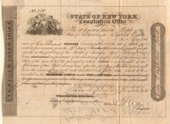 State of New York Comptroller's Office stock certificate 1842