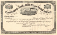 Centreville & Corsica River Steamboat Company stock certificate 1880's - Queen Anne's County Maryland