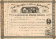 Cleveland, Columbus, Cincinnati and Indianapolis Railway Company stock certificate 1873