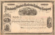 Pittsburgh, Virginia and Charleston Railway Company stock certificate 1882