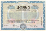 Hawaiian Natural Water Company stock certificate specimen