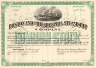 Boston and Philadelphia Steamship Company stock certificate 1890's