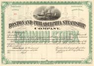 Boston and Philadelphia Steamship Company stock certificate 1890's