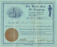 Uncle Sam Oil Company  stock certificate 1911