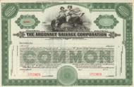 Argonaut Salvage Company Stock Certificate - specimen circa 1919