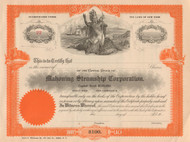 Mahoning Steamship Corporation stock certificate circa 1910