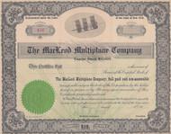 MacLeod Multiplane Company stock certificate circa 1911