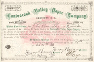 Contoocook Valley Paper Company  stock certificate 1910 (Henniker, New Hampshire)