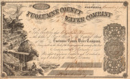 Tuolumne County Water Company stock certificate 1854 (Columbia California)