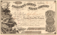 Tuolumne County Water Company stock certificate 1862(Columbia California)