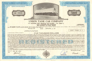 Union Tank Car Company bond certificate 1977