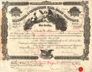 Marietta & Cincinnati Rail Road Company stock certificate 1879