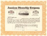 American Steamship Company stock certificate circa 1907  (New York)