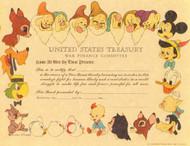 United States Treasury War Finance Committee Cert. circa 1944 (Disney)