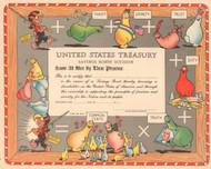 United States Treasury Savings Bond Cert. circa 1949 (Al Capp - Shmoo)