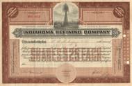 Indiahoma Refining Company stock certificate 1923 (Oklahoma)