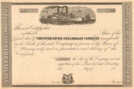 Chester River Steamboat Company stock certificate 1870's (Maryland)