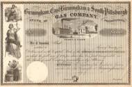 Birmingham, East Birmingham & South Pittsburgh Gas Company stock certificate circa 1856 (Pennsylvania)