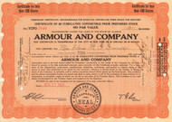 Armour Company temporary stock certificate 1934 (Illinois)