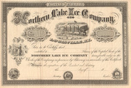 Northern Lake Ice Company stock certificate circa 1879 (Kentucky)