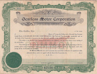 Gearless Motor Corporation stock certificate 1919