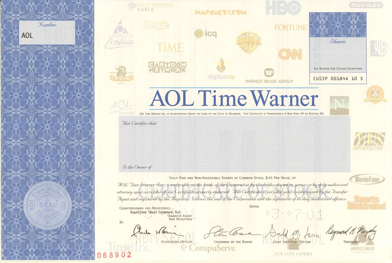 aol time warner on essay Aol's $164-billion takeover of time warner still stands as one of the worst deals of all time and for good reason.