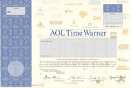 AOL Time Warner stock certificate specimen
