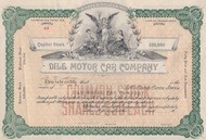 Dile Motor Car Company stock certificate 1913