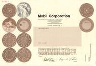 Mobil Corporation stock certificate specimen (pre ExxonMobil) 1998