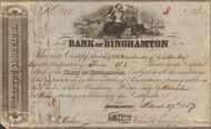 Bank of Binghamton stock certificate 1857 (New York)