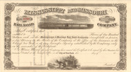 Mississippi and Missouri Railroad Company stock certificate 1860's (Iowa)