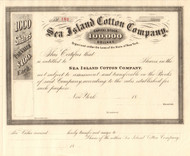 Sea Island Cotton Company Company stock certificate 1890's (New York)
