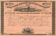 Lake Shore Railway Company stock certificate 1869 (Ohio)